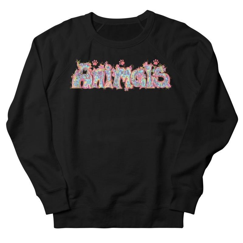 Kaleidoscopic Animals (Text) Men's Sweatshirt by VanillaKirsty's Artist Shop