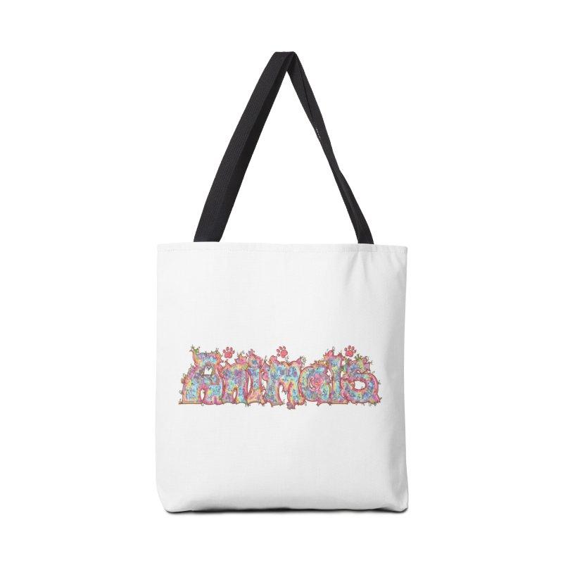Kaleidoscopic Animals (Text) Accessories Bag by VanillaKirsty's Artist Shop