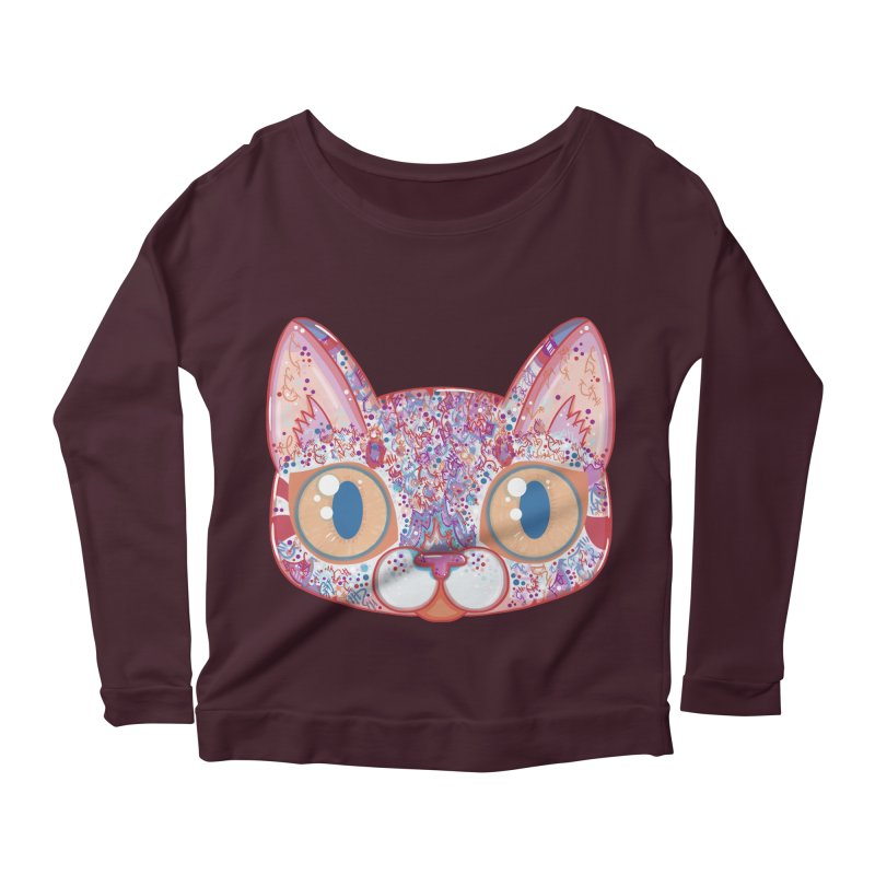 Chromatic Cat I Women's Longsleeve Scoopneck  by VanillaKirsty's Artist Shop