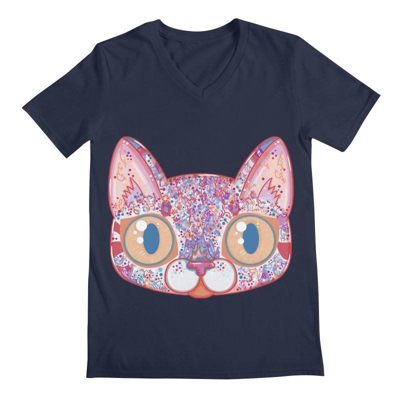 Chromatic Cat I Men's V-Neck by VanillaKirsty's Artist Shop
