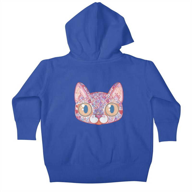 Chromatic Cat I Kids Baby Zip-Up Hoody by VanillaKirsty's Artist Shop