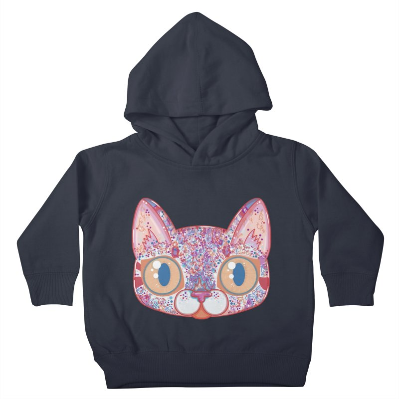Chromatic Cat I Kids Toddler Pullover Hoody by VanillaKirsty's Artist Shop