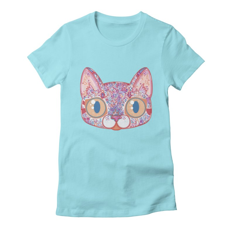 Chromatic Cat I Women's Fitted T-Shirt by VanillaKirsty's Artist Shop
