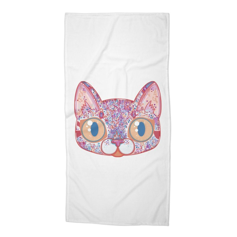 Chromatic Cat I Accessories Beach Towel by VanillaKirsty's Artist Shop