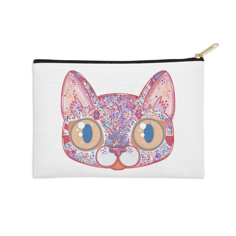 Chromatic Cat I Accessories Zip Pouch by VanillaKirsty's Artist Shop