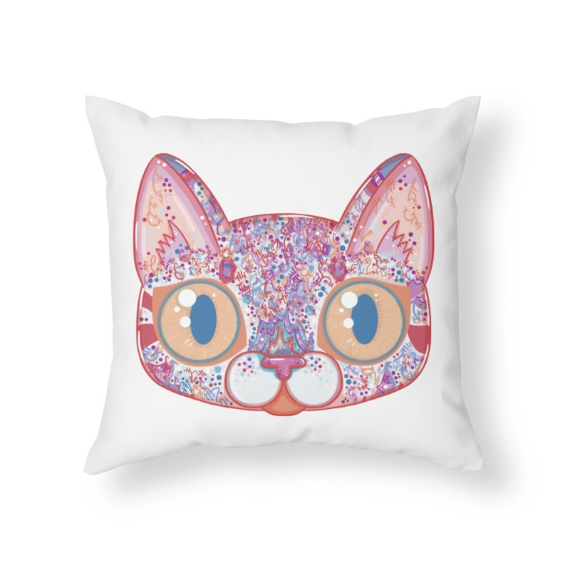 Chromatic Cat I Home Throw Pillow by VanillaKirsty's Artist Shop