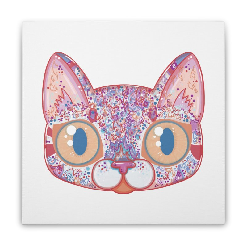 Chromatic Cat I Home Stretched Canvas by VanillaKirsty's Artist Shop