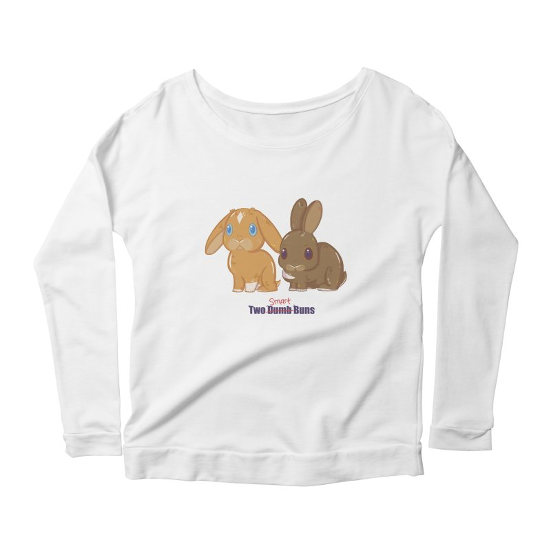 Two Dumb (Smart) Buns Women's Longsleeve Scoopneck  by VanillaKirsty's Artist Shop