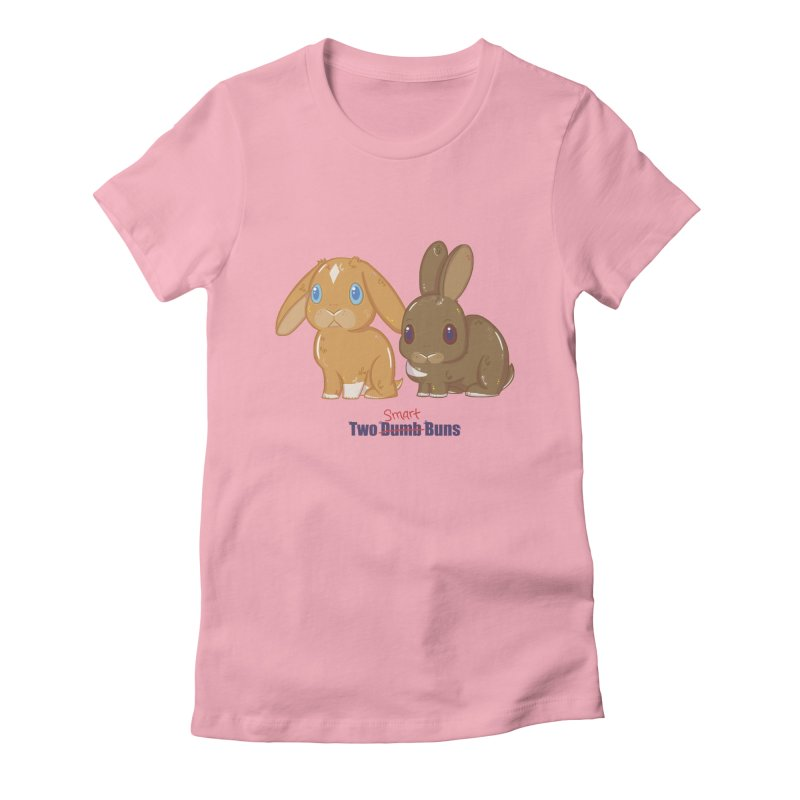 Two Dumb (Smart) Buns Women's Fitted T-Shirt by VanillaKirsty's Artist Shop
