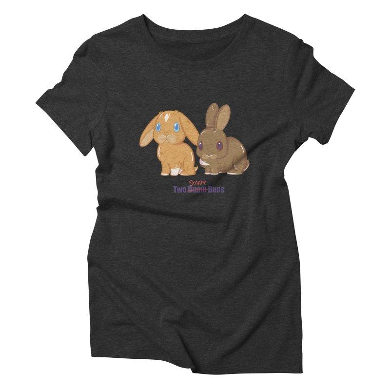 Two Dumb (Smart) Buns Women's Triblend T-Shirt by VanillaKirsty's Artist Shop