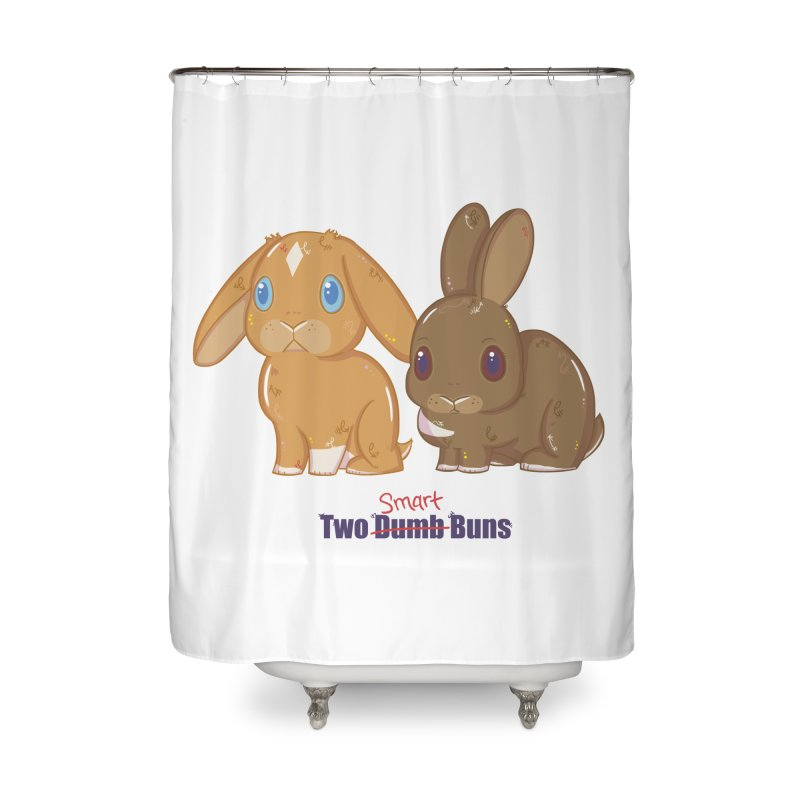 Two Dumb (Smart) Buns Home Shower Curtain by VanillaKirsty's Artist Shop