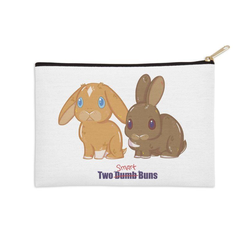 Two Dumb (Smart) Buns Accessories Zip Pouch by VanillaKirsty's Artist Shop