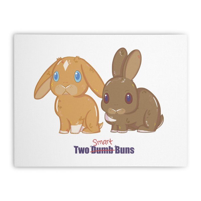 Two Dumb (Smart) Buns Home Stretched Canvas by VanillaKirsty's Artist Shop