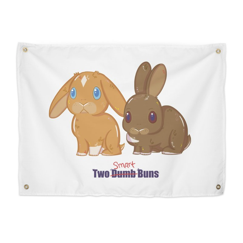 Two Dumb (Smart) Buns Home Tapestry by VanillaKirsty's Artist Shop