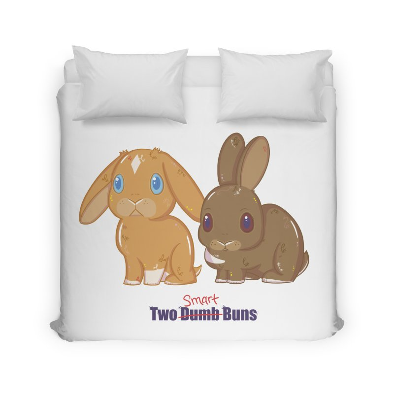 Two Dumb (Smart) Buns Home Duvet by VanillaKirsty's Artist Shop