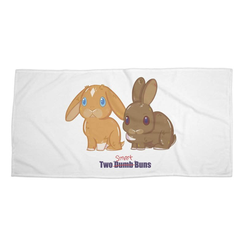 Two Dumb (Smart) Buns Accessories Beach Towel by VanillaKirsty's Artist Shop