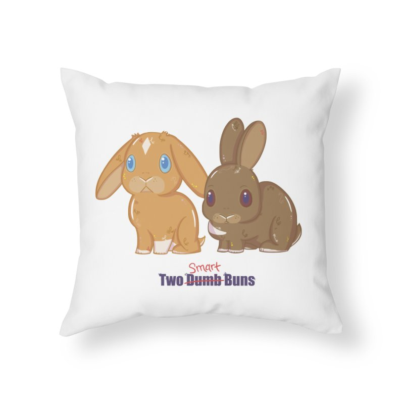 Two Dumb (Smart) Buns Home Throw Pillow by VanillaKirsty's Artist Shop