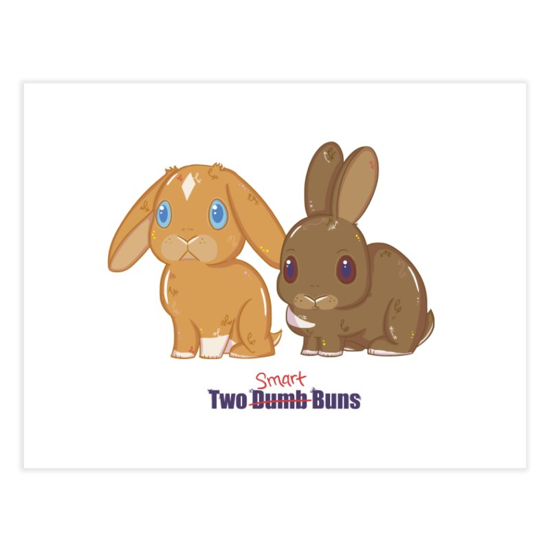 Two Dumb (Smart) Buns Home Fine Art Print by VanillaKirsty's Artist Shop