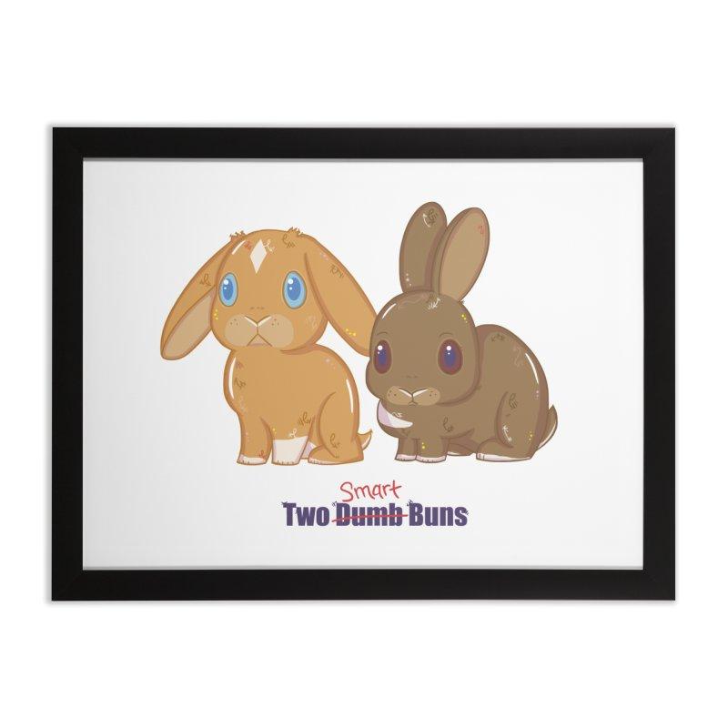 Two Dumb (Smart) Buns Home Framed Fine Art Print by VanillaKirsty's Artist Shop