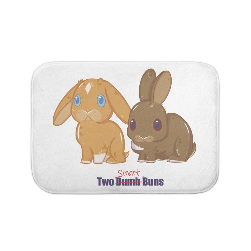 Two Dumb (Smart) Buns Home Bath Mat by VanillaKirsty's Artist Shop