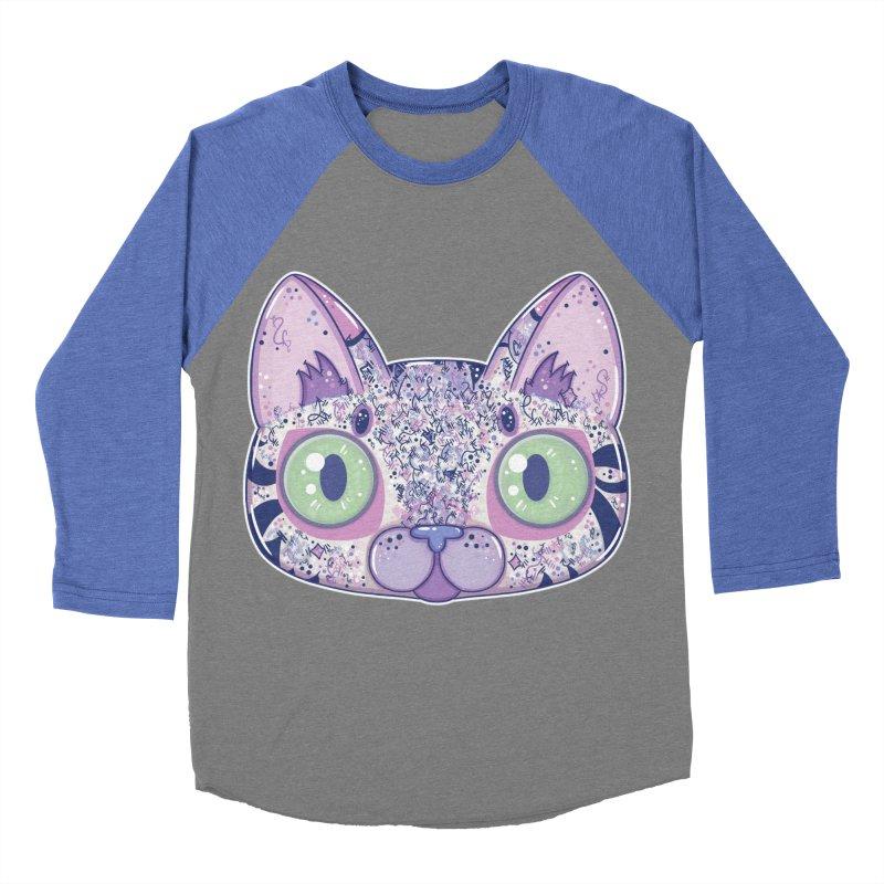 Chromatic Cat II (Purple, Blue, Pink) Women's Baseball Triblend T-Shirt by VanillaKirsty's Artist Shop