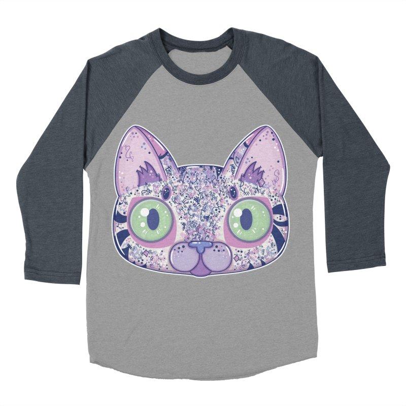 Chromatic Cat II (Purple, Blue, Pink) Men's Baseball Triblend T-Shirt by VanillaKirsty's Artist Shop