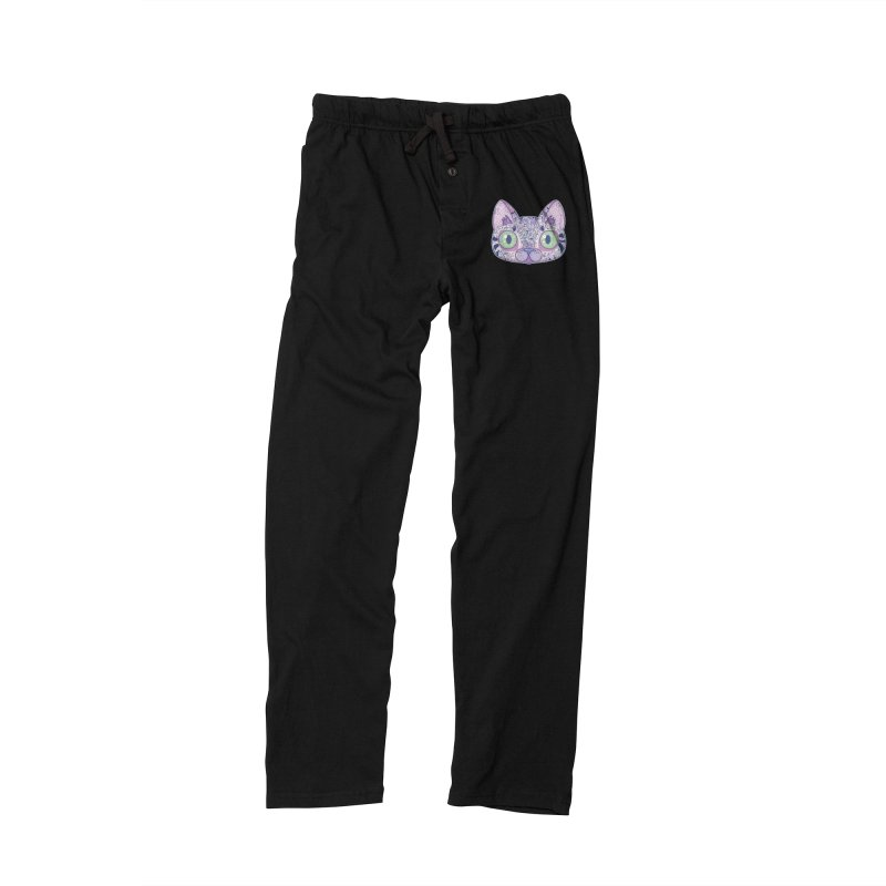 Chromatic Cat II (Purple, Blue, Pink) Men's Lounge Pants by VanillaKirsty's Artist Shop