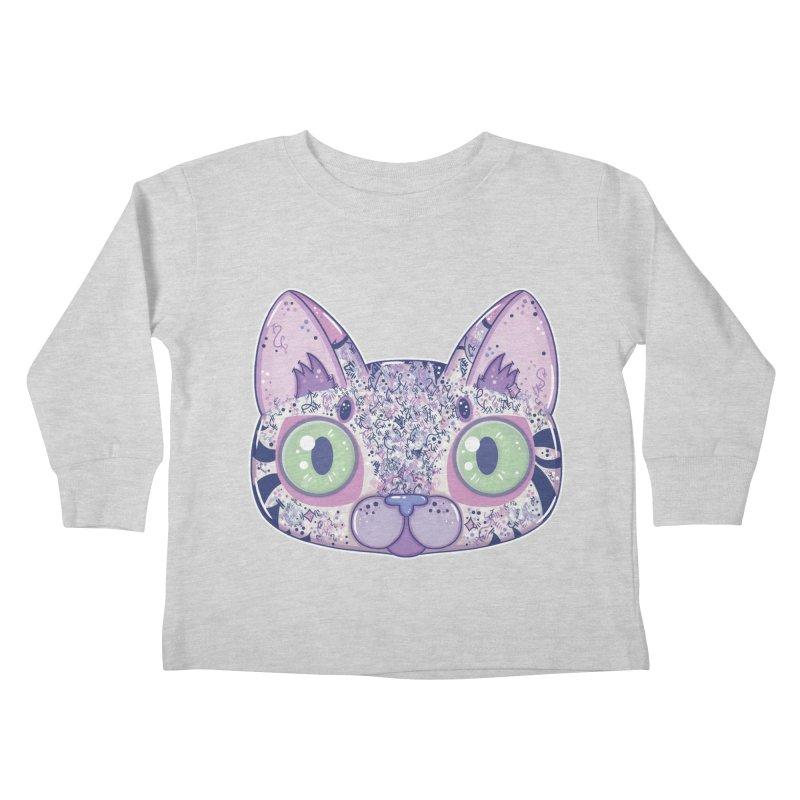 Chromatic Cat II (Purple, Blue, Pink) Kids Toddler Longsleeve T-Shirt by VanillaKirsty's Artist Shop