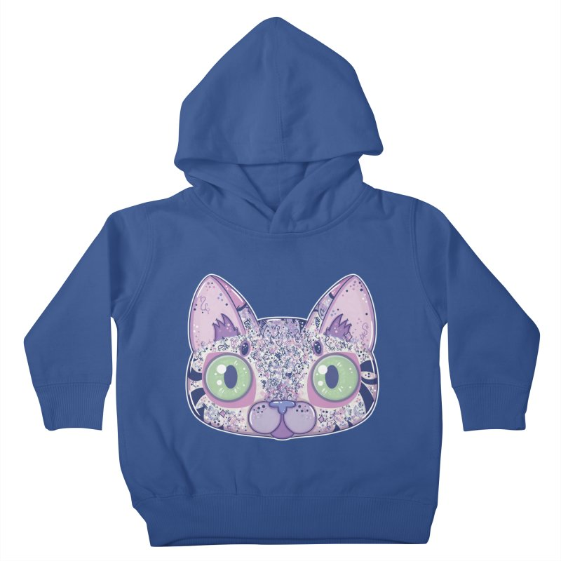 Chromatic Cat II (Purple, Blue, Pink) Kids Toddler Pullover Hoody by VanillaKirsty's Artist Shop