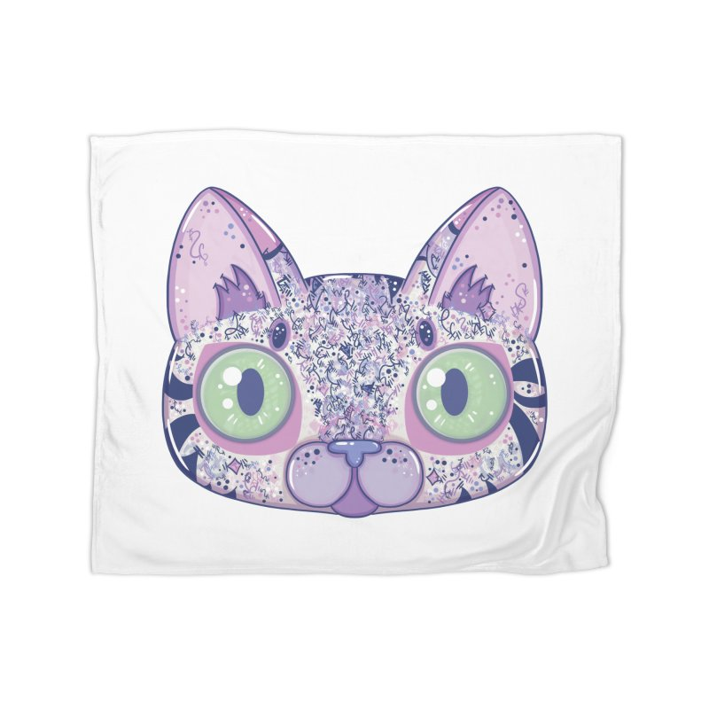 Chromatic Cat II (Purple, Blue, Pink) Home Blanket by VanillaKirsty's Artist Shop