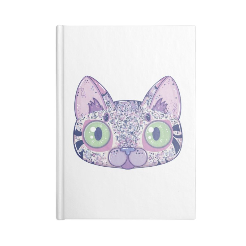 Chromatic Cat II (Purple, Blue, Pink) Accessories Notebook by VanillaKirsty's Artist Shop