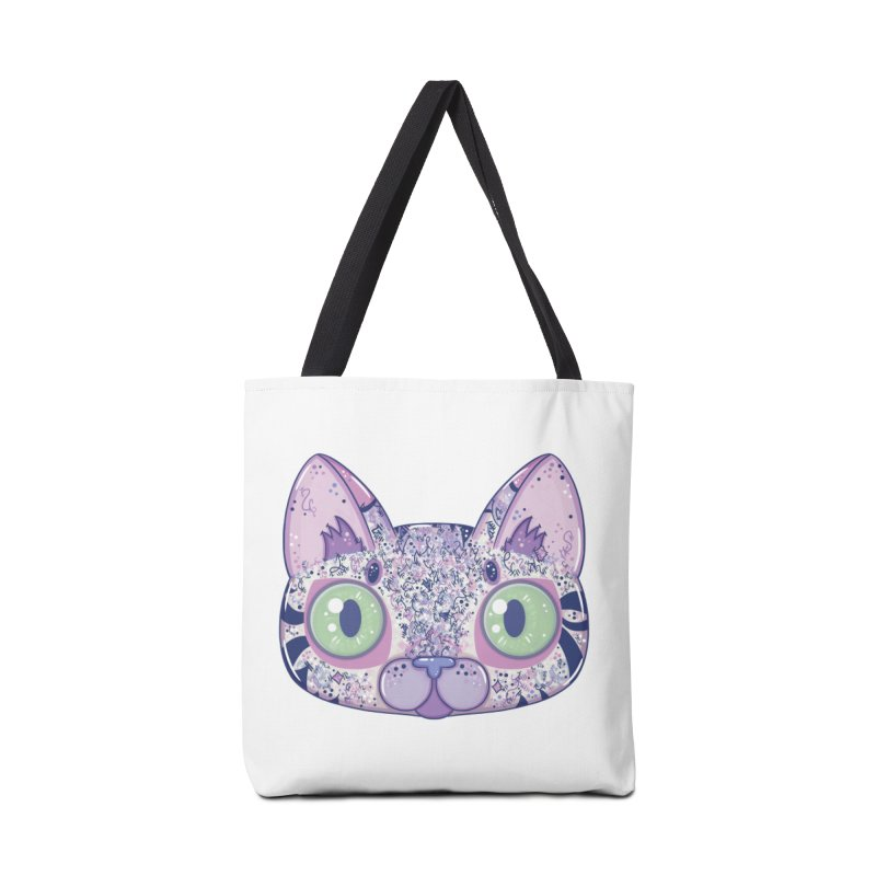 Chromatic Cat II (Purple, Blue, Pink) Accessories Bag by VanillaKirsty's Artist Shop