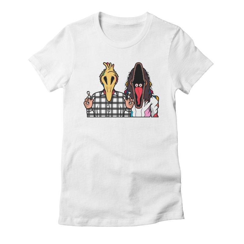 Adam & Barbara Women's Fitted T-Shirt by Van Orton Design Threadless Shop