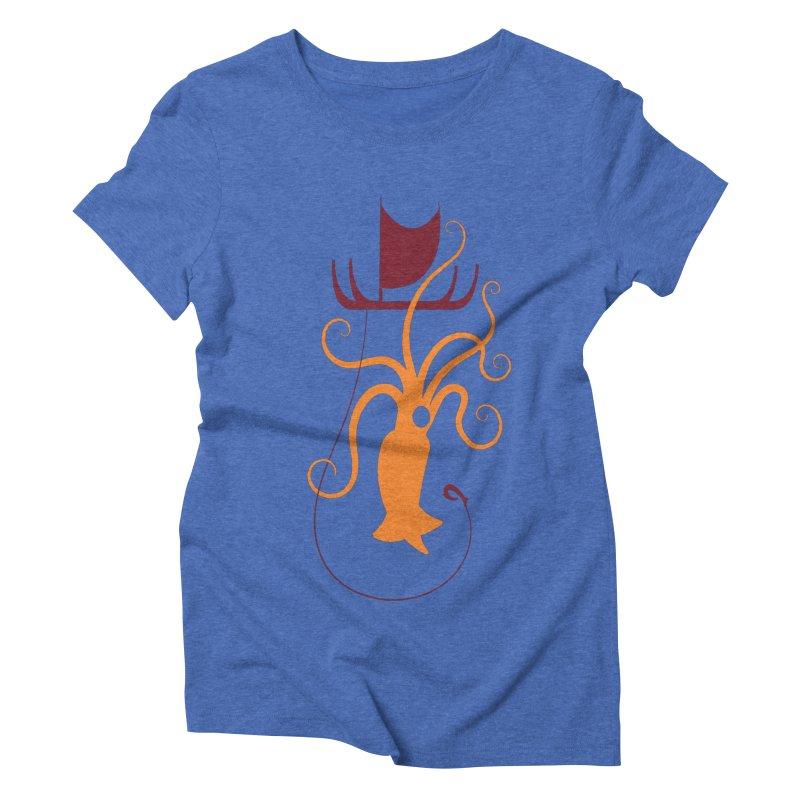South Seas Squid Women's Triblend T-Shirt by VanTiki's Print Shack