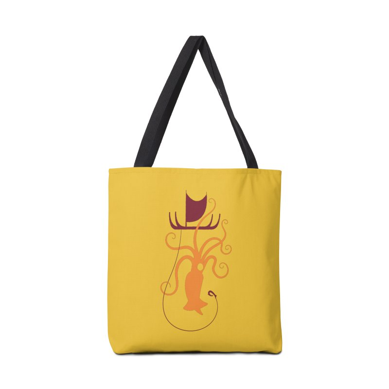 South Seas Squid Accessories Tote Bag Bag by VanTiki's Print Shack