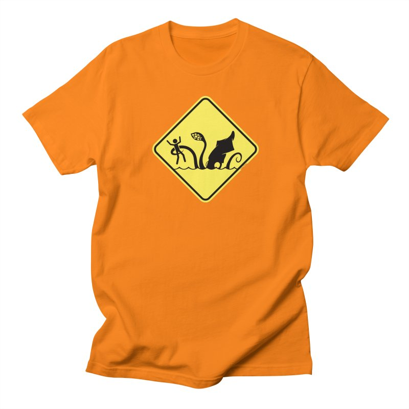 Beach Closed in Men's Regular T-Shirt Orange by VanTiki's Print Shack