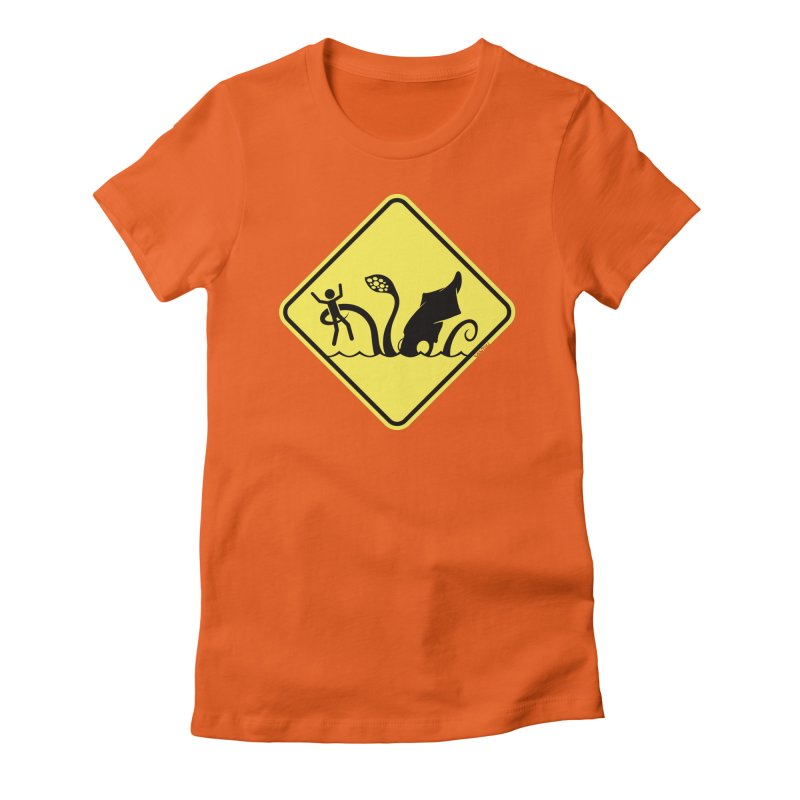 Beach Closed Women's Fitted T-Shirt by VanTiki's Print Shack