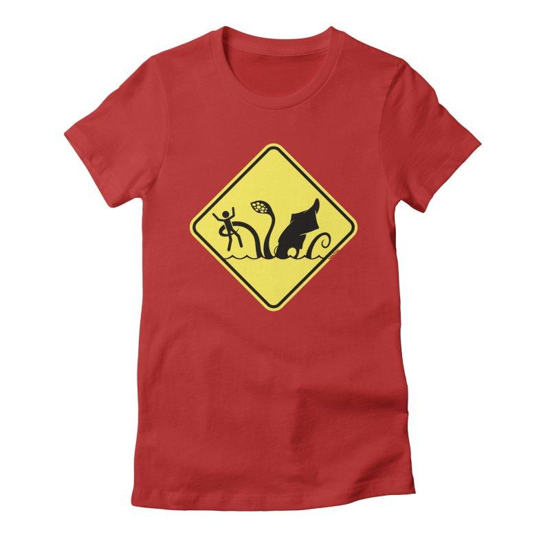 Beach Closed Women's Fitted T-Shirt by VanTiki's Print Shack