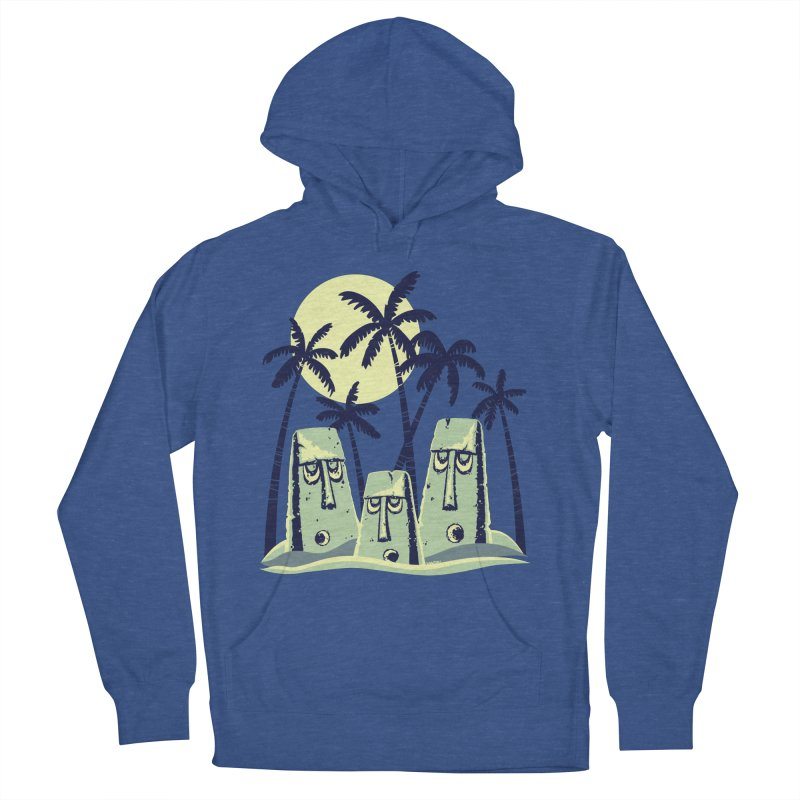 Moonlight Moai Men's Pullover Hoody by VanTiki's Print Shack