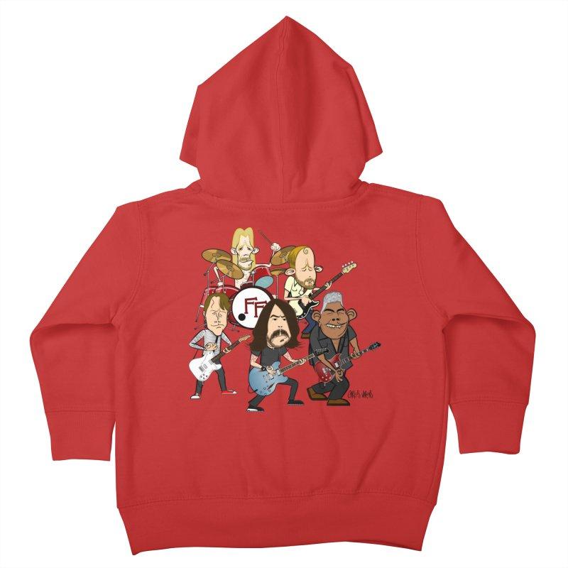 Dave & the Foo's Kids Toddler Zip-Up Hoody by Vargas Toons Shop