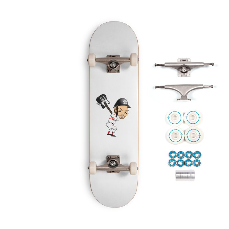 Ed Baseball Accessories Skateboard by Vargas Toons Shop