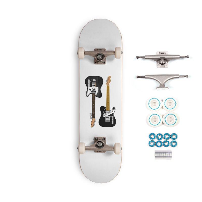 Tele Guitars Accessories Skateboard by Vargas Toons Shop