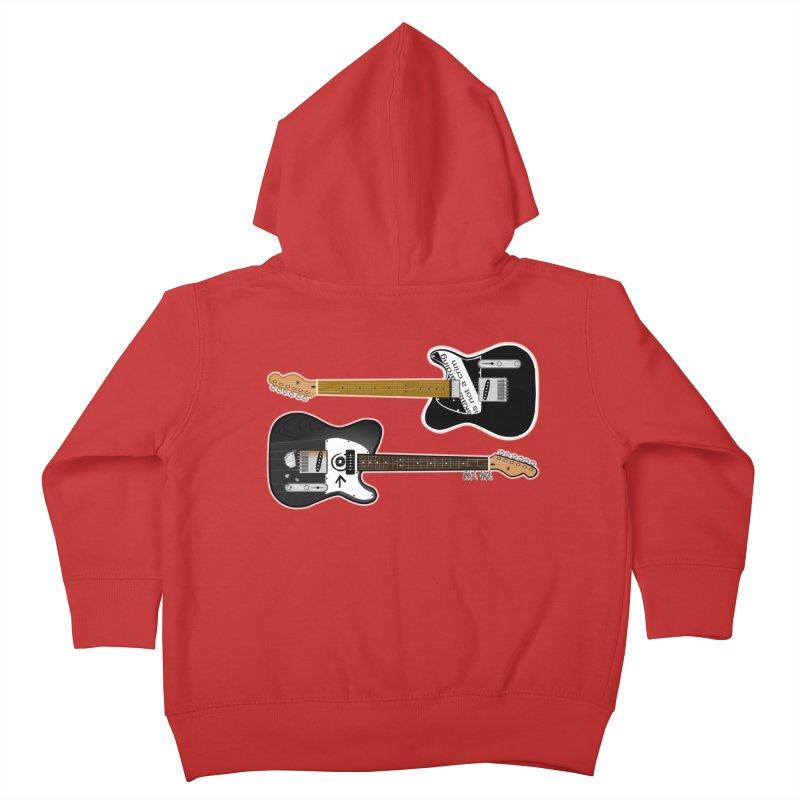 Tele Guitars Kids Toddler Zip-Up Hoody by Vargas Toons Shop