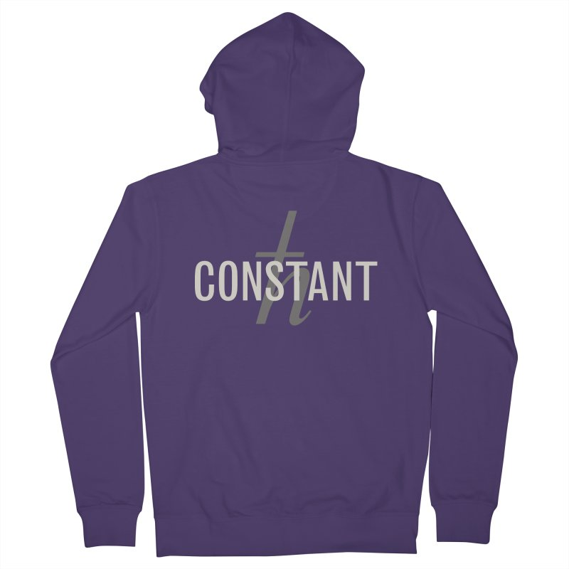 Constant Grayscale Women's French Terry Zip-Up Hoody by Variable Tees