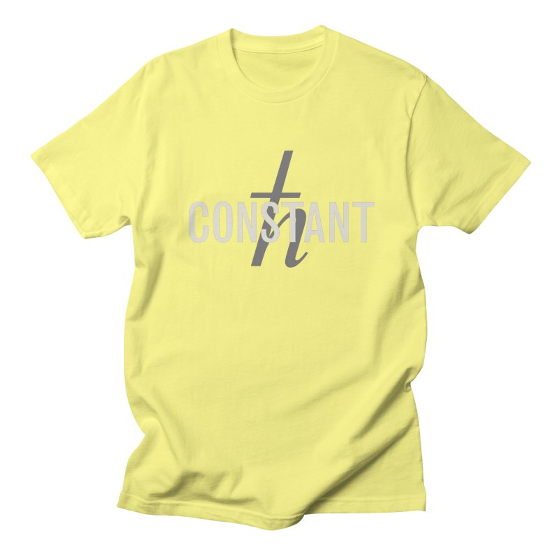 Constant Grayscale Men's Regular T-Shirt by Variable Tees
