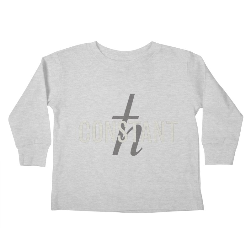 Constant Grayscale Kids Toddler Longsleeve T-Shirt by Variable Tees