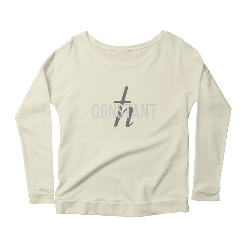 Constant Grayscale Women's Scoop Neck Longsleeve T-Shirt by Variable Tees