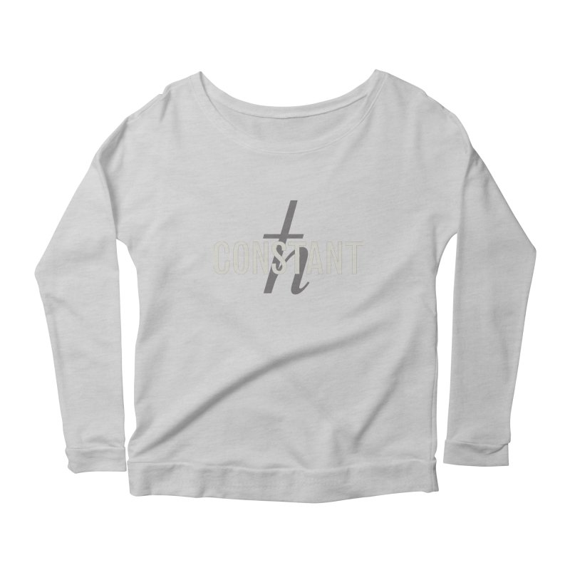 Constant Grayscale Women's Longsleeve Scoopneck  by Variable Tees
