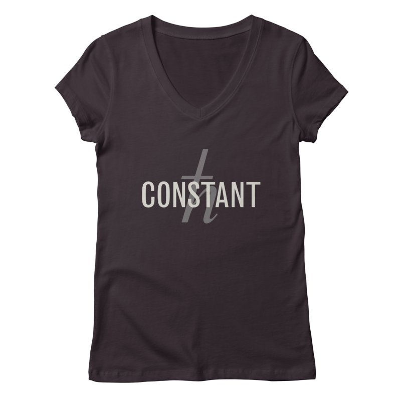 Constant Grayscale Women's Regular V-Neck by Variable Tees