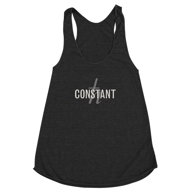 Constant Grayscale Women's Racerback Triblend Tank by Variable Tees